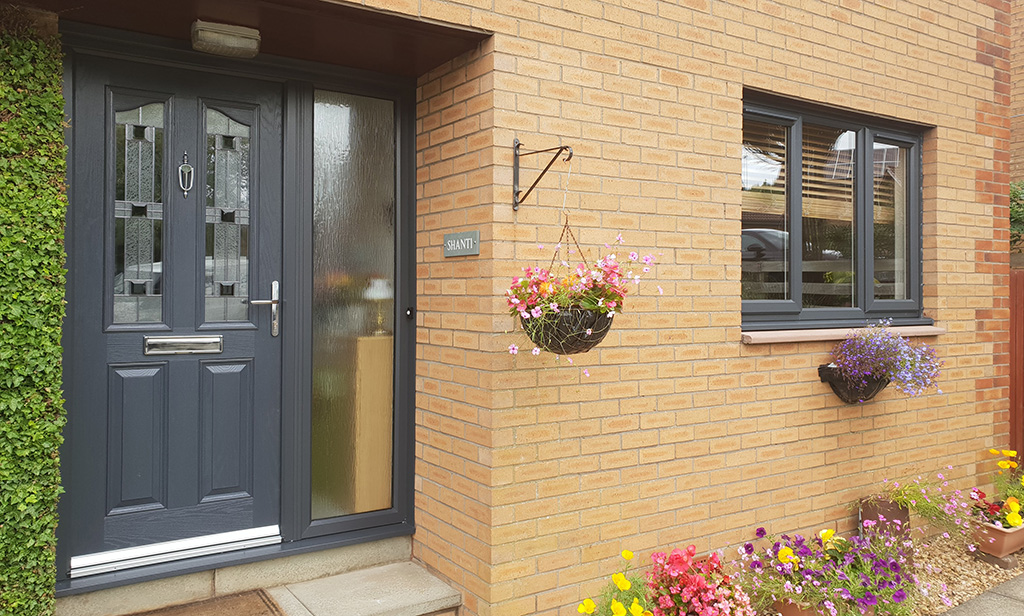 Anthracite grey replacement windows and doors East Kilbride