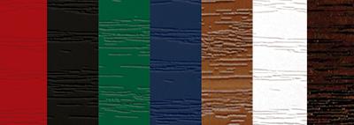 Colour range for composite doors