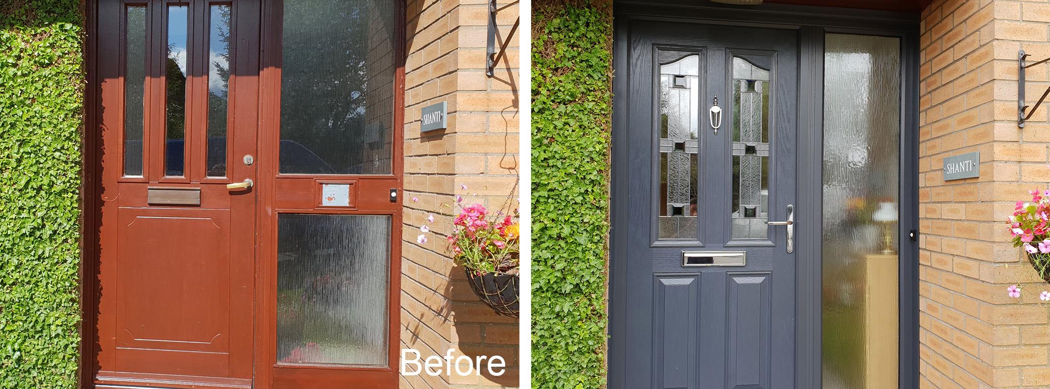 New entrance doors East Kilbride