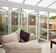 Bi-fold or multi-fold doors triple glazed