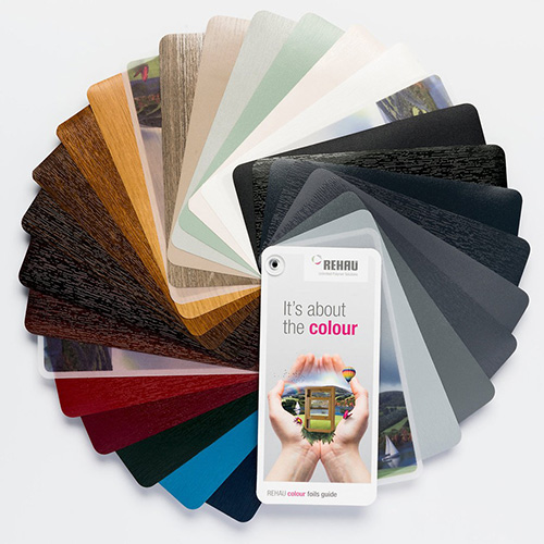 Window frame colours Rehau