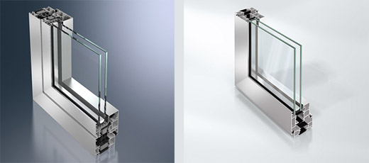 Aluminium windows profiles